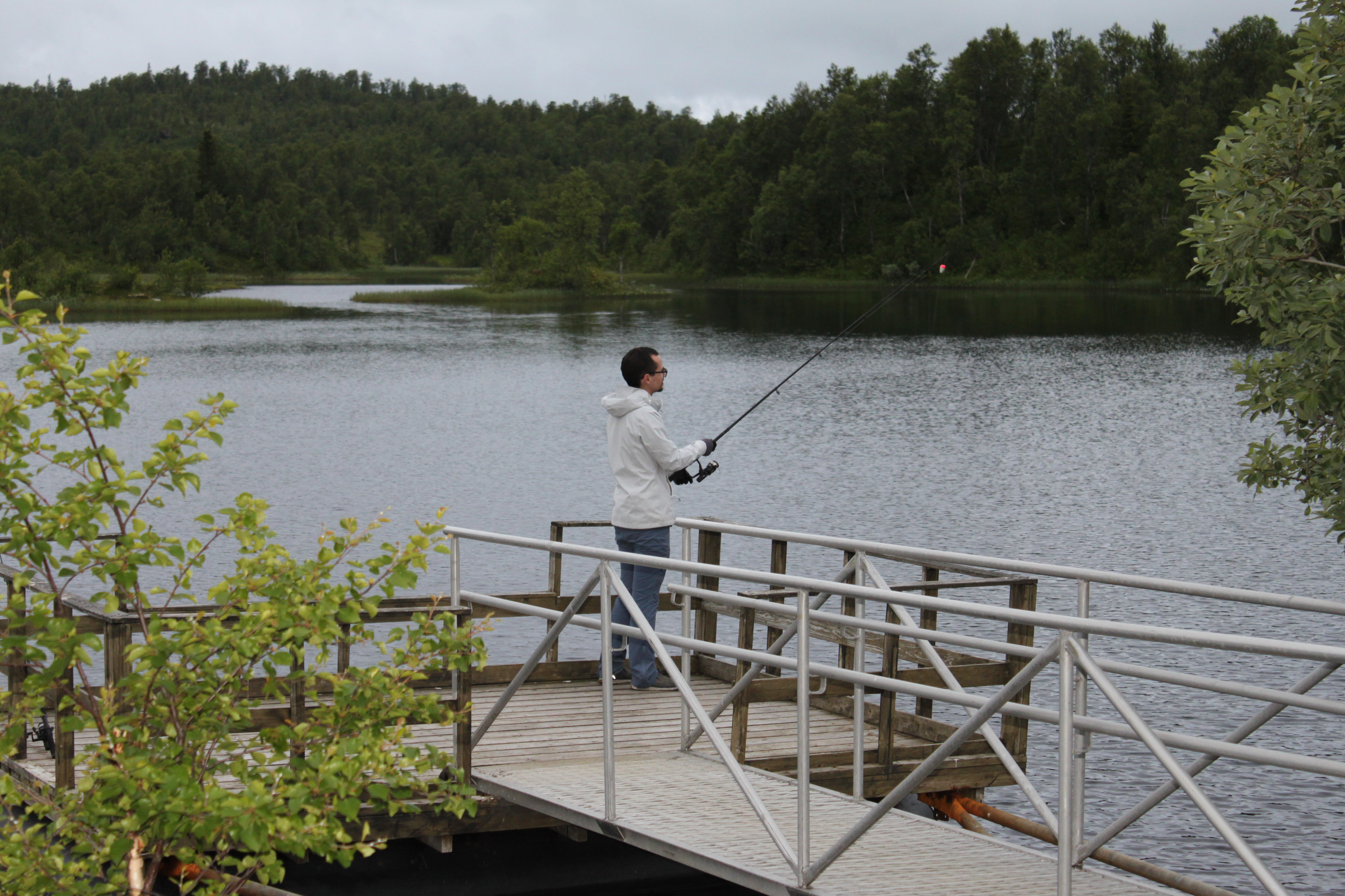 Fishing with a guide in Mo I Rana